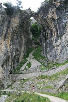 The Garganta del Cares (The Cares Gorge) trail is probably one of the most popular in Spain. The path high above the Rio Cares runs between Cain and Puenta Poncebos and cuts through two of the main Pico massifs.