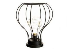 Lámpara led negro metal Shop, Led Lamp, Black, Store