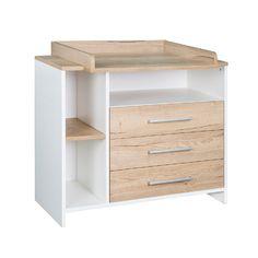 SCHARDT Commode à langer avec table à langer ECO PLUS couleurs bois, blanc