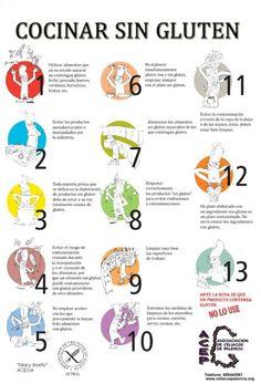 ¡Útiles #consejos a tener en cuenta para una vida #singluten! #infografia