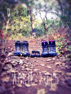 Our long-awaited pregnancy announcement! We're both avid hikers; this seemed like a fitting way to tell everyone. :)