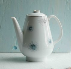 Vintage COFFEE POT Snowflake Celestial by by redtruckdesigns, $29.00
