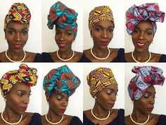 DIY -How I Tie Turban/ Badu Head Wrap Tutorial for Bad Hair Days, fall hair - YouTube
