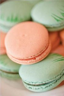 Instead of cupcakes?  REVEL: Macaroons  In coral - passion fruit/white - coconut/mint or turquoise?  Fun fun!