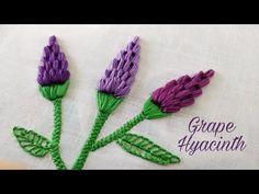 Grape Hyacinth/Cluster Stitch (Hand Embroidery Work) - YouTube