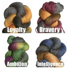 Harry Potter Hogwarts Houses yarn from Jimmy Beans Wool $92.00