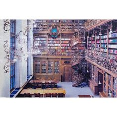 Ravenclaw Common Room ❤ liked on Polyvore featuring harry potter, backgrounds and hogwarts