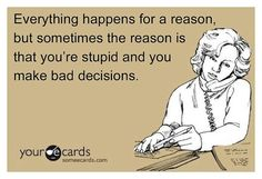 LOVE THIS!!!    I always say....reason is just applied to things....it's not why it happened!