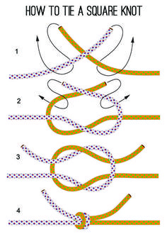 How to Tie a Square Knot - Instructions DIY Survival Tool from . - How to Tie a Square Knot – Instructions DIY Survival Tool from Survival Live … # - Jewelry Knots, Bracelet Knots, Jewelry Crafts, Beaded Jewelry, Beaded Bracelets, Handmade Bracelets, Knots For Bracelets, Diy Bracelets Elastic, Stretch Bracelets