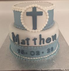 Baptism Cake Birthday Cake, Cakes, Desserts, Food, Birthday Cakes, Meal, Deserts, Essen, Hoods