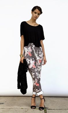 Floral Print Jeans. $180, via The Cools