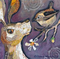 Hare & Wren Collage (SOLD) www.dawnmaciocia.com https://www.facebook.com/collagecreations