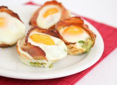 Bacon Avocado Egg Cups  I have had these without the avacado and they were yummy! I can only imagine how great they will be WITH the avocado! I will add a little cheese to these too!