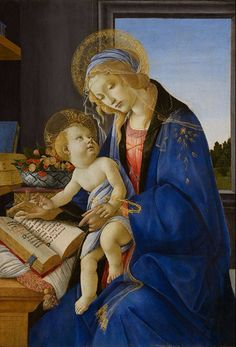 Sandro Botticelli, Virgin and Child (Madonna of the Book), about 1478–80. Tempera and gold on panel. Museo Poldi Pezzoli, Milan. Inv. 443.