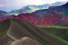 Kyrgyzstan is interlocked by beautiful mountain ranges.