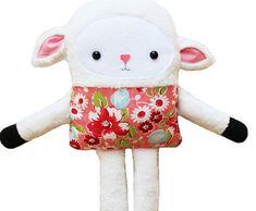 Lamb Toy Doll Softie PDF Sewing Pattern || GandGPatterns on Etsy