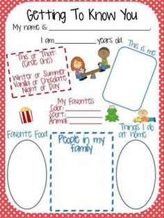 students can fill out this quick worksheet the first day of school or even before school - Fun Sheets For Students