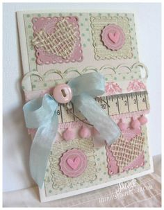 Love the textures on this card {blog is in Deutsche}.