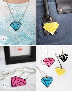 Shrinky Dink Style Diamonds