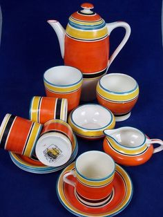 Art Deco Coffee Set by Grays, Design by Susie Cooper 1928