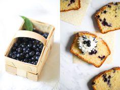 Rezept für Polentakuchen mit Heidelbeeren Rührkuchen Kastenkuchen Backrezept einfach Sommerkuchen Blaubeerkuchen