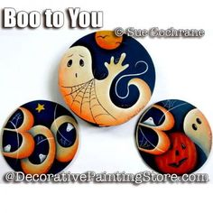 Boo to You Coaster Set ePattern - Susan Cochrane