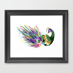 Rainbow Plumage  Framed Art Print by TheCourtJester - $31.00