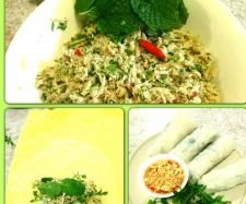 Recipe vietnamese spring rolls with dipping sauce by thermo-envy, learn to make this recipe easily in your kitchen machine and discover other Thermomix recipes in Main dishes - others. Vietnamese Rice Paper Rolls, Vietnamese Spring Rolls, Vietnamese Food, Chicken Rice Paper Rolls, Chicken Spring Rolls, Sauce Recipes, Paleo Recipes, Cooking Recipes, Blender Recipes