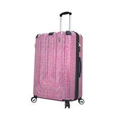 Mia Toro Luggage Macchiolina Polish Hardside 29 Inch Spinner Burgundy