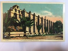 Vintage Mission San Gabriel, CA postcard unposted early 1900s