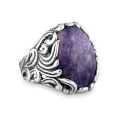 -2528-023-xx                                                                                            Charoite Sterling Silver Ring       ...
