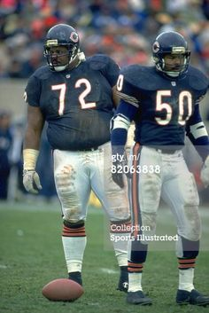 Chicago Bears William Perry and Mike Singletary