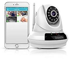 Indoor Wireless Home Security IP Camera - HD 720p Video Surveillance with PTZ Night Vision Motion Detection 2 Way Audio - Mobile App  PC WiFi Access - SereneLife IPCMAHD62: Camera & Photo