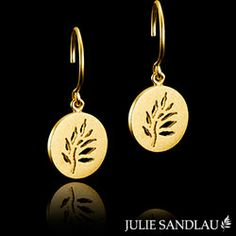 Julie Sandlau CLASSIC earrings in silver with 22 carat plating - HKS208 GD