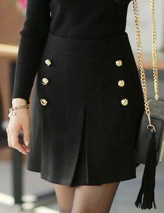 Styleonme-No. 33940 #miniskirt #skirt