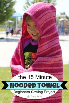 15 Minute DIY Hooded Towels - I'm going to have lots of extra towels when we redecorate the bathroom. I could totally do this!