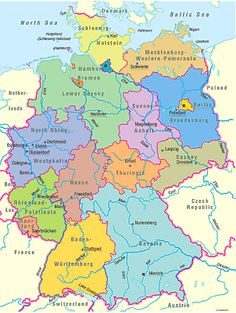 map of german cities - Google Search