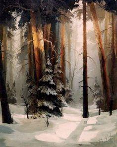 Bykov, Viktor (b,1958)- Woods in Winter