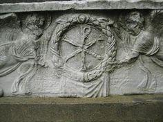 Sarcofago paleocristiano, la fine del IV secolo. Museo archeologico, Istanbul