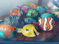 Painted coconuts