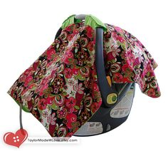 This car seat cover is the perfect solution to help protect your baby from the sun, inclement weather, germs and unwanted attention. You can also use this car seat cover as a play mat, extra blanket, emergency changing pad or nursing cover! TaylorMadeWLove, $24.99 www.etsy.com/listing/110281220 #Baby #Girl #Infant #Car #Seat #Butterfly #Cover #Tent #Canopy #cute