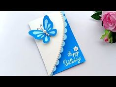 Learn how to create a Birthday card,I have some pretty awesome ideas for you! If you like to make handmade birthday card you need some coloring paper a. Happy Birthday Cards Handmade, Creative Birthday Cards, Beautiful Birthday Cards, Birthday Card Design, Birthday Cards For Women, Birthday Greeting Cards, Card Birthday, Handmade Invitation Cards, Greeting Cards Handmade