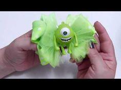 (2) Como HAcer Moño Tematico Personajes infantiles    FloresyMoños Faciles - YouTube