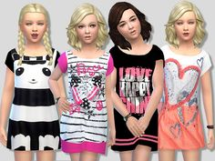 Sims 4 CC's - The Best: Summer Dress Set for Girls by Pinkzombiecupcakes