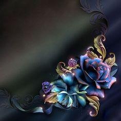 ♥ Fall Fruits, Borders And Frames, Rose Art, Paper Background, Art Logo, Mother Nature, Flower Art, Decoupage, Print Design