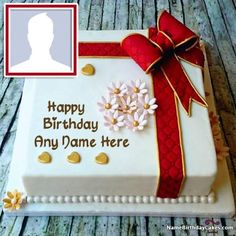 Create Birthday Cakes For Your Friends And Beloved Ones With Their Name Photo Here
