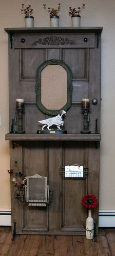 Hometalk :: Vintage Door Turned Into a Beautiful Display.  Follow me for more great things I found. www.facebook.com/robertatorok