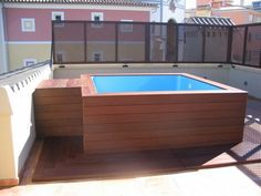 Mini pool on terrace. # small terraces # small pools rnrnSource by MSSIERR Mini Piscina, Pools For Small Yards, Small Backyard Pools, Garden Swimming Pool, Small Swimming Pools, Ideas De Piscina, Terrace Decor, Small Pool Design, Mini Pool