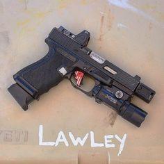 Handgun, Firearms, Stuff And Thangs, Guy Stuff, Glock Mods, Cz 75, Custom Glock, Roland Special, Weapons