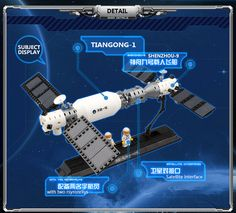 14883007-Space Series Satellite Docking 293PCS Building Block Boys Bricks Toy Compatible with Famous Brand